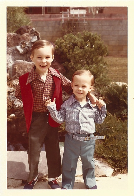 Brandon Berman with his brother long ago